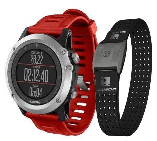 Garmin GPS sportovní hodinky fenix3 Silver + HR Optic