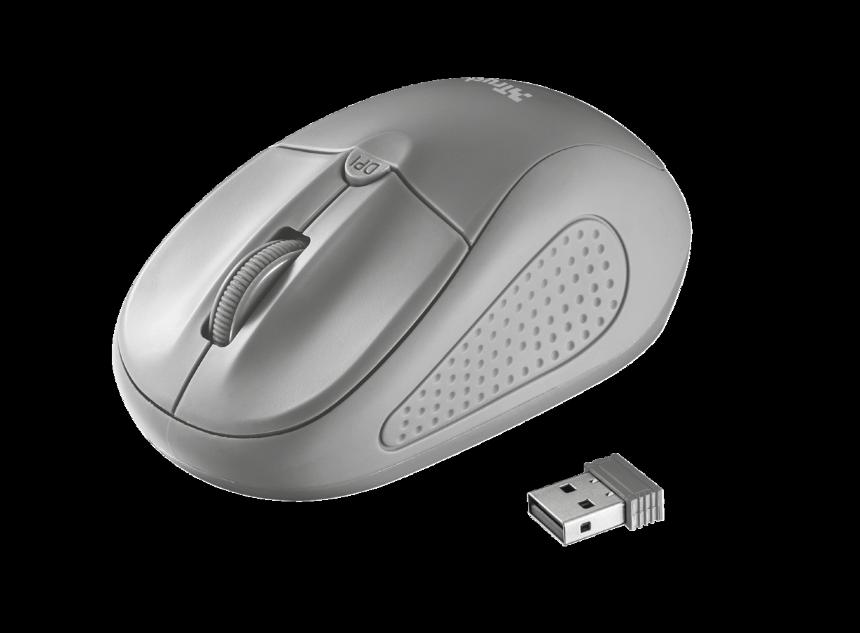 Trust Primo bezdrátová myš - šedá