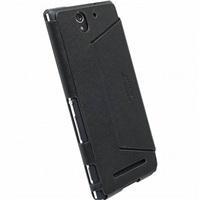 Krusell flipové polohovací pouzdro MALMÖ FLIPCASE STAND pro Sony Xperia C3, černá