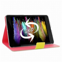 "Puro stojánkové pouzdro s magnetem ""BI-COLOR 360°"" pro iPad mini Retina, žlutá/růžová"