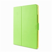 """Puro stojánkové pouzdro s magnetem """"BI-COLOR 360°"""" pro iPad air, zelená/žlutá"""