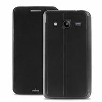 Puro flipové pouzdro pro Samsung Galaxy Core 2 (SM-G355) s přihrádkou na kartu, černá