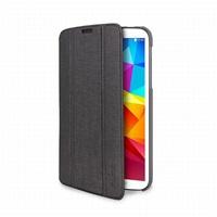 """Puro stojánkové pouzdro ZETA SLIM """"ICE"""", průsvitná záda, pro Galaxy Tab4 7"""" (T230), šedá"""