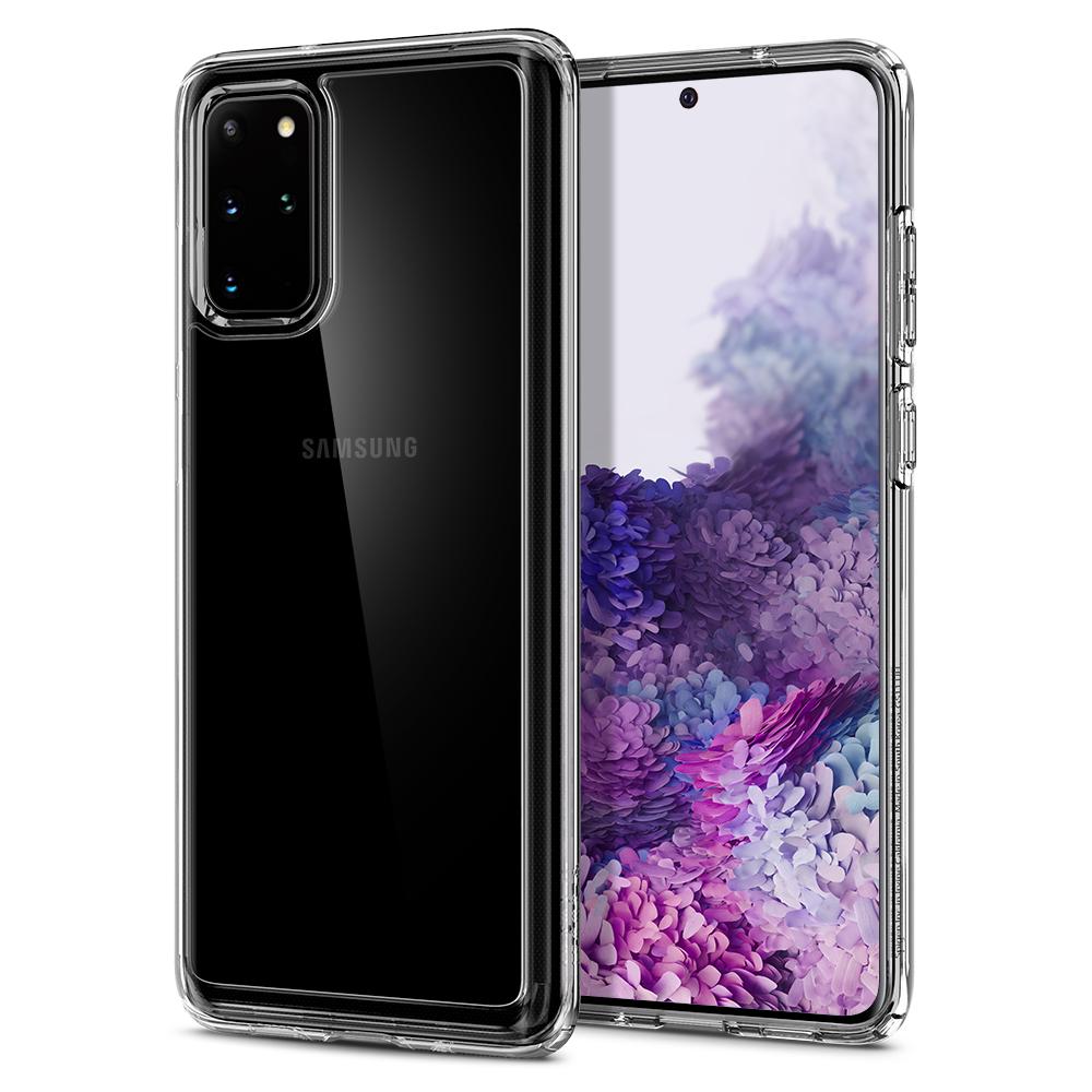 Ochranný kryt Spigen Ultra Hybrid pro Samsung Galaxy S20 plus transparentní