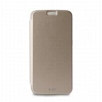 Puro flipové pouzdro pro Samsung Galaxy S6 edge s přihrádkou na kartu, zlatá