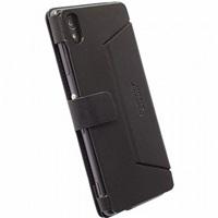 Krusell flipové pouzdro MALMÖ FlipWallet pro Sony Xperia M4 Aqua/M4 Aqua Dual, černá