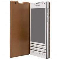 BlackBerry flipové pouzdro kožené pro BlackBerry Passport, světle hnědá