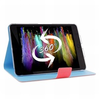 "Puro stojánkové pouzdro s magnetem ""BI-COLOR 360°"" pro iPad mini Retina, růžová/modrá"