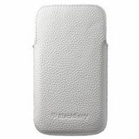 BlackBerry pouzdro kožené pro BlackBerry Classic, bílá