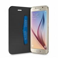 Puro flipové pouzdro pro Samsung Galaxy S6 s přihrádkou na kartu, černá
