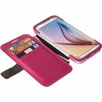 Krusell flipové pouzdro MALMÖ FlipWallet pro Samsung Galaxy S6/S6 edge, jasně červená