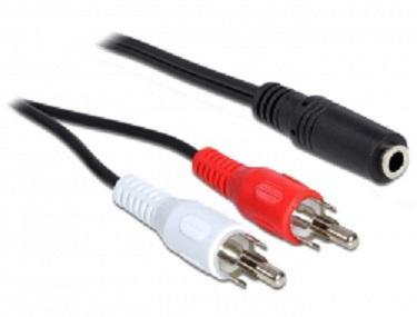 Kabel 2 x RCA samec > 1 x 3 pin 3.5 mm Stereo jack 1.40 m