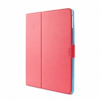 "Puro stojánkové pouzdro s magnetem ""BI-COLOR 360°"" pro iPad air, růžová/modrá"