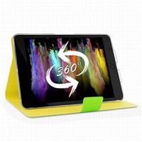 """Puro stojánkové pouzdro s magnetem """"BI-COLOR 360°"""" pro iPad mini Retina, zelená/žlutá"""