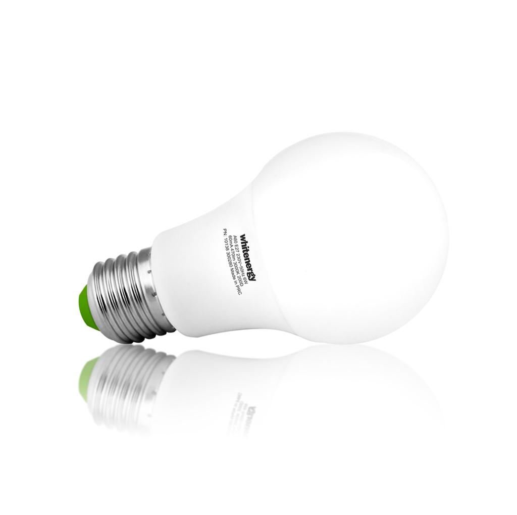 WE LED žárovka SMD2835 A60 E27 6W bílá mléčná