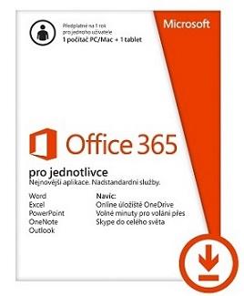 Office 365 Personal 32-bit/x64 All Lng - předplatné na 1 rok - elektronická licence
