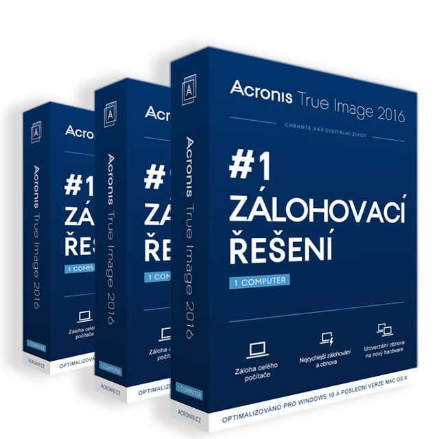 Acronis True Image 2016 - 3 Computer - Upgrade ESD CZ