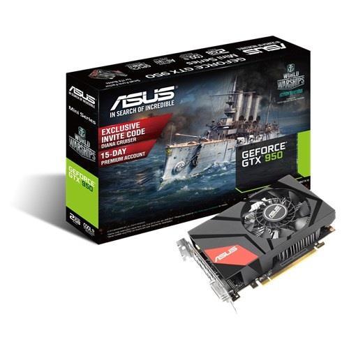 ASUS GeForce GTX 950, 2GB GDDR5 (128 Bit), HDMI, DVI, DP