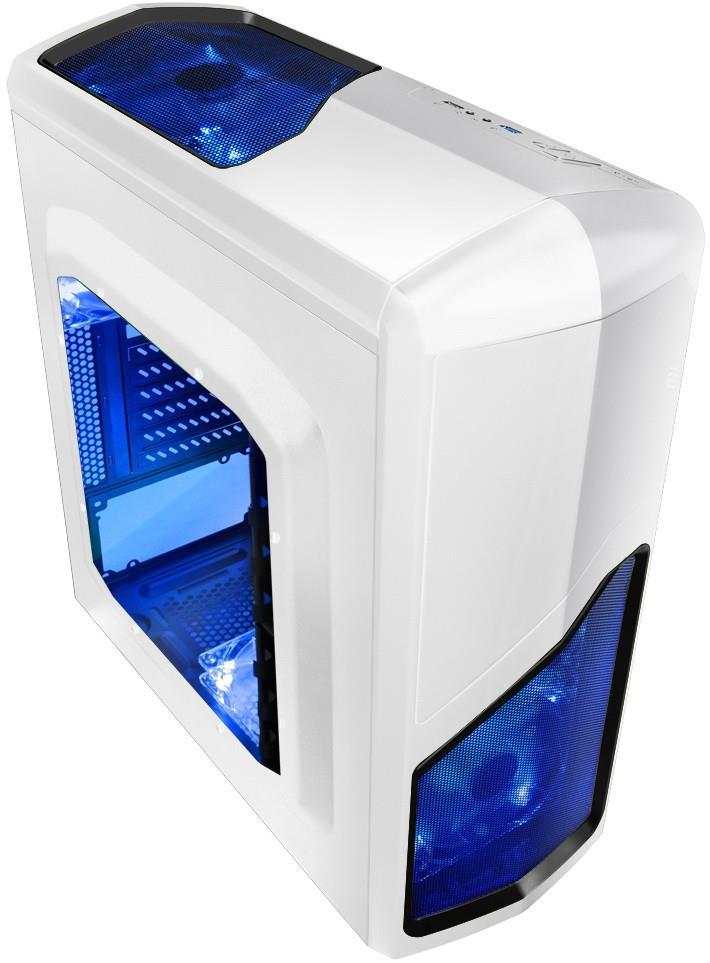 Gembird herní PC skříň Midi Tower Aphrodite, bílá
