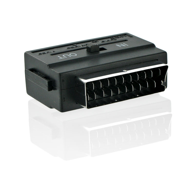4World Adaptér Scart - SVHS 3x cinch Black