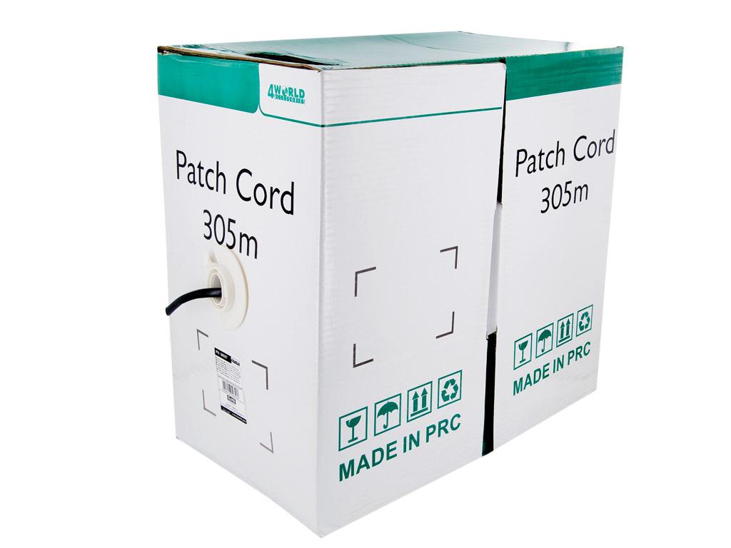 4World Patch kabel Cat5e UTP 305m wire Black