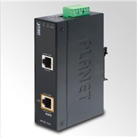 Planet IPOE-162 napájení po ethernetu IEEE802.3at, 30W, Gigabit, DIN, IP30, -40 až 75 C