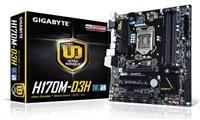 GIGABYTE MB Sc LGA1151 H170M-D3H, Intel H170, 4xDDR4, VGA, mATX