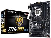 GIGABYTE MB Sc LGA1151 Z170-HD3, Intel Z170, 4xDDR4, VGA