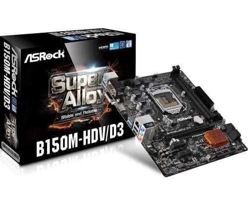 ASRock MB Sc LGA1151 B150M-HDV, Intel B150, 2xDDR4, VGA