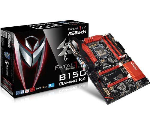 ASRock Fatal1ty B150 GAMING K4, B150, DualDDR4-2133, SATA3, HDMI, DVI, ATX