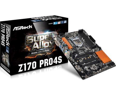 ASRock Z170 PRO4S, 1151, Z170, 4 x DDR4, 6 x SATA3, GLAN, DVI-D/HDMI, USB3.0, ATX
