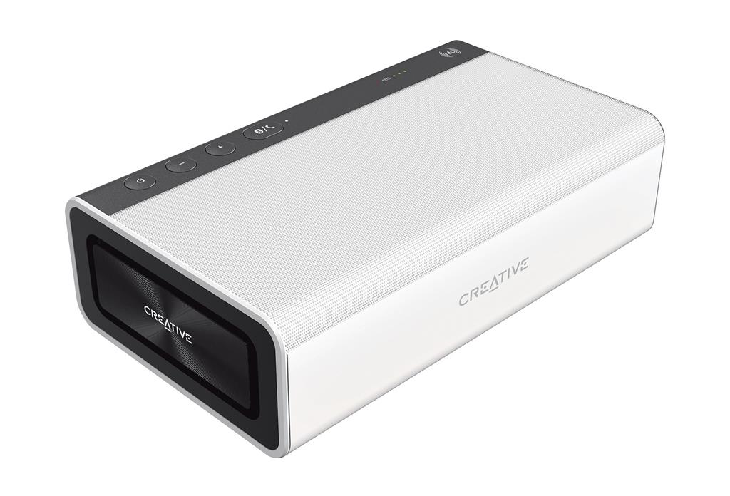 CREATIVE repro SB ROAR 2 white, přenosné (Tera Bass, Bluetooth, NFC, SD karta, bílé)