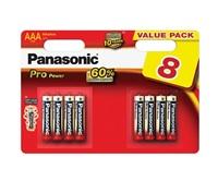 PANASONIC Alkalické baterie - Pro Power AAA 4+4F 1,5V balení - 8ks
