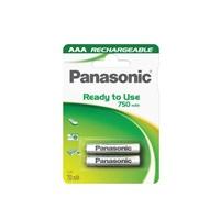 PANASONIC Ready to use - Nabíjecí baterie AAA 750mAh 1,2V balení - 2ks