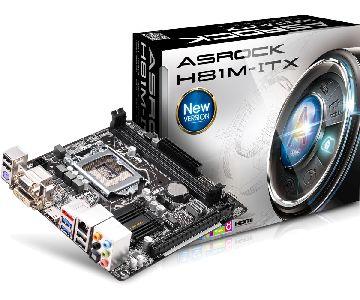 ASRock H81M-ITX, H81, DualDDR3-1600, SATA3, HDMI, DVI, mITX