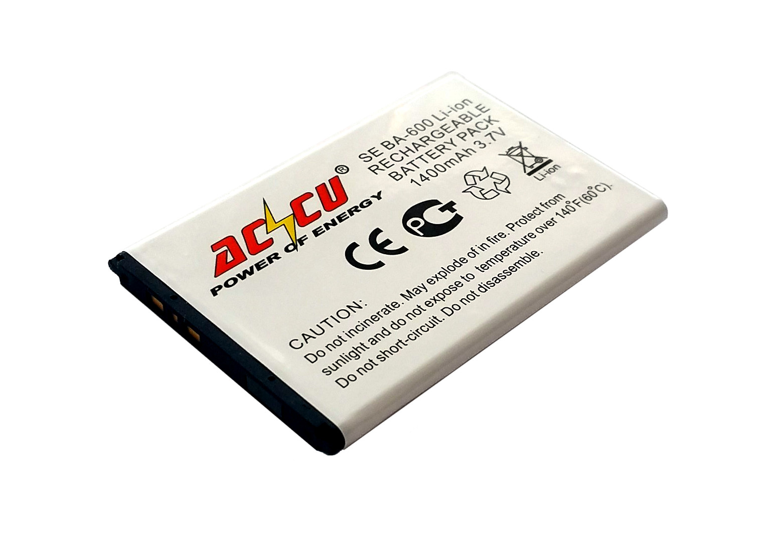 Baterie Accu pro Sony Ericsson Xperia U, Li-ion, 1400mAh
