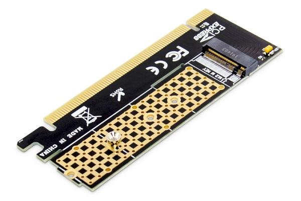 Digitus M.2 NVMe SSD PCIexpress Add-On karta x16 podporuje M Key, velikost 80,60,42 a 30 mm