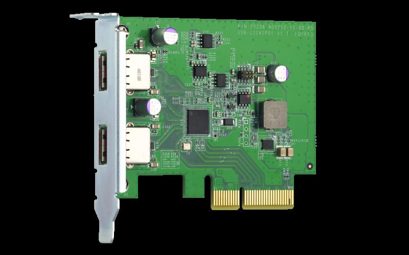 QNAP QXP-10G2U3A - Dvouportová USB 3.2 Gen2 10Gb PCIe rozšiřující karta pro NAS a PC