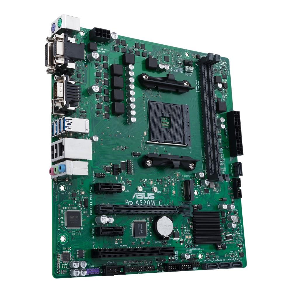 ASUS MB Sc AM4 PRO A520M-C/CSM, AMD A520, 2xDDR4, 1xHDMI, 1xDVI, 1xVGA, mATX