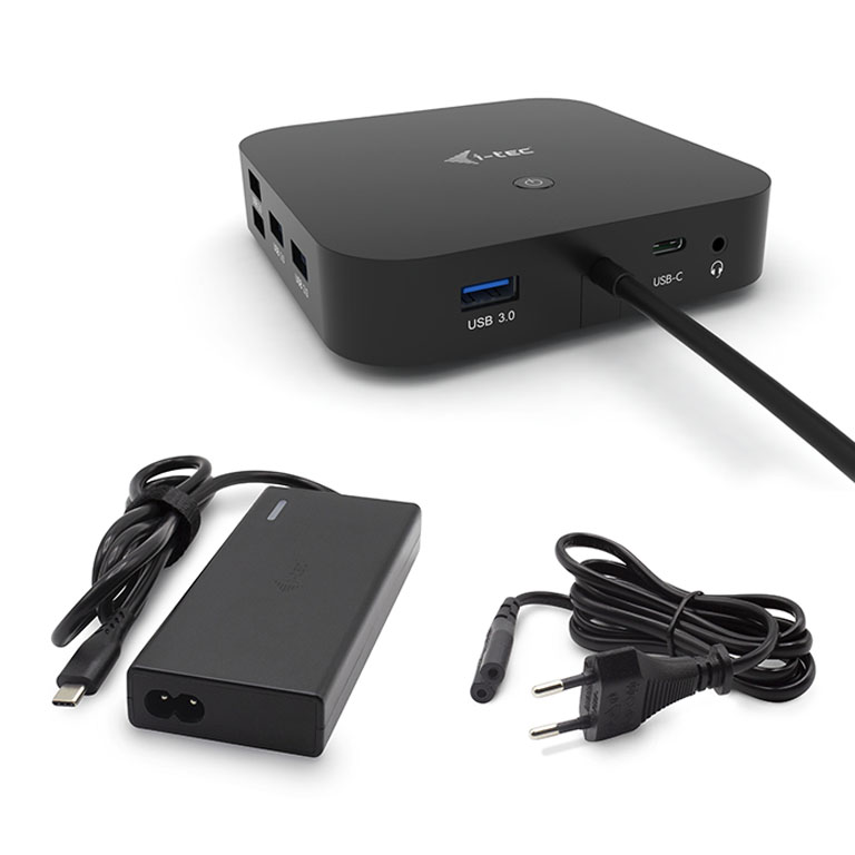 iTec USB-C Dual Display Docking Station s Power Delivery 65W + Universal Charger 77 W