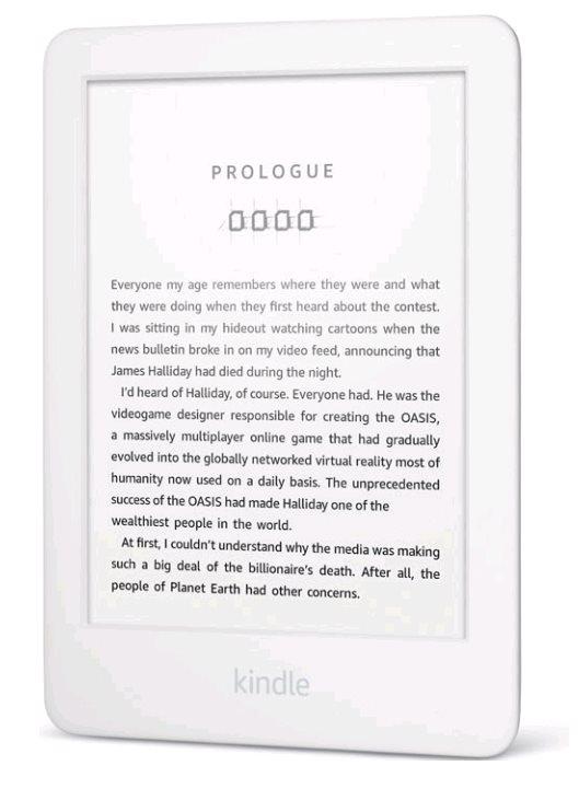 """E-book AMAZON KINDLE TOUCH 2020, 6"""", 8GB E-ink podsvícený displej, WIFi, bílý, SPONZOROVANÁ VERZE"""