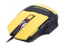 CONNECT IT Myš CI-464 BIOHAZARD V2 USB pro hráče, laserová, žlutá