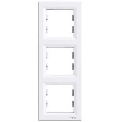 Asfora - Rámeček trojnásobný vertikální - bílá