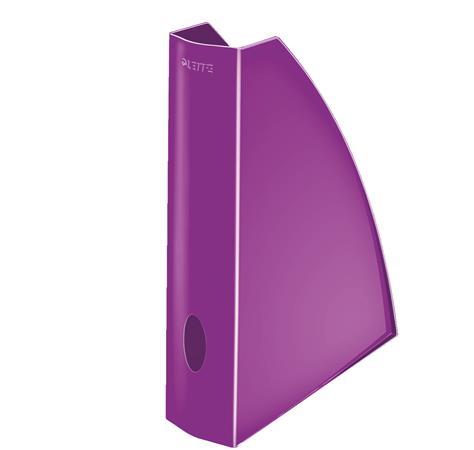Stojan na časopisy Leitz WOW, purpurová