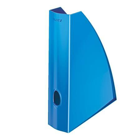Stojan na časopisy Leitz WOW, metalická modrá