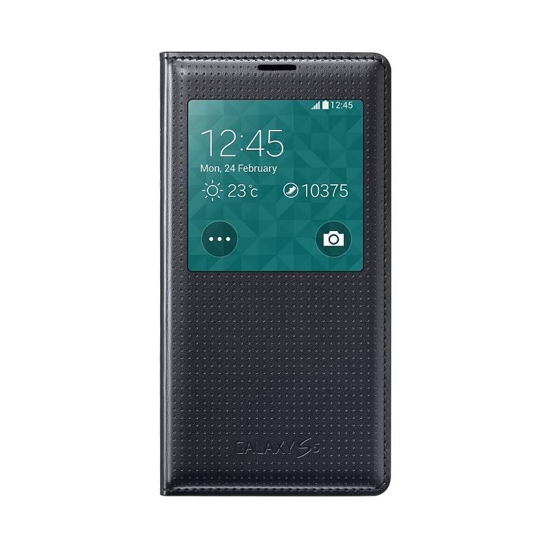 Samsung flip. pouzdro S-view pro S5 EF-CG900B, Čer