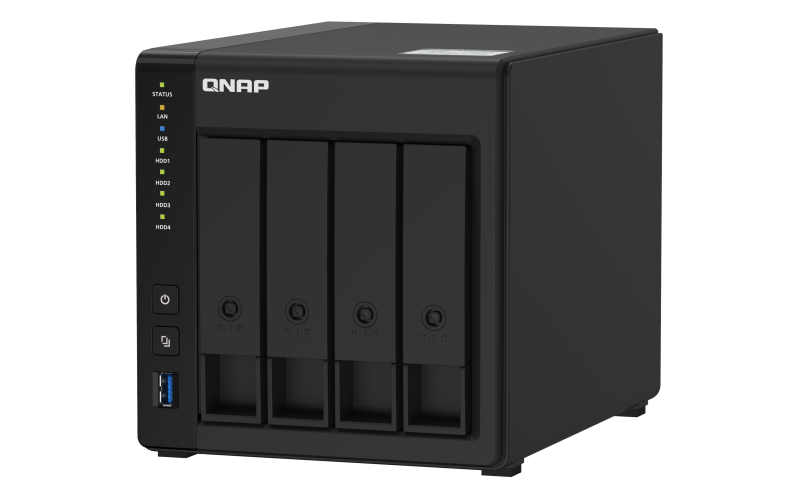 QNAP TS-451D2-4G (2C/Celeron J4025/2,0-2,9GHz/4GBRAM/4xSATA/2xGbE/4xUSB3.0/1xHDMI)