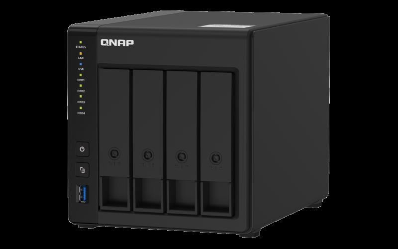 QNAP TS-451D2-2G (2C/Celeron J4025/2,0-2,9GHz/4GBRAM/4xSATA/2xGbE/4xUSB3.0/1xHDMI)
