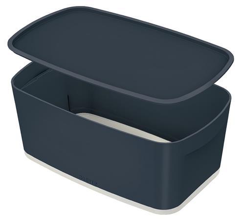 Úložný box s víkem Leitz MyBox Cosy, velikost S, sametová šedá