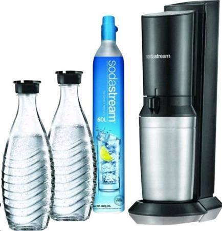 SodaStream Crystal 2.0 černá + 2x náhradní lahev